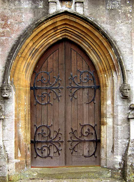 Church doors antique church doors interior oak doors 64 1 2 tall by 21 1 4 wide an inside for Exterior glass doors for churches