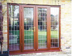Hardwood patio doors